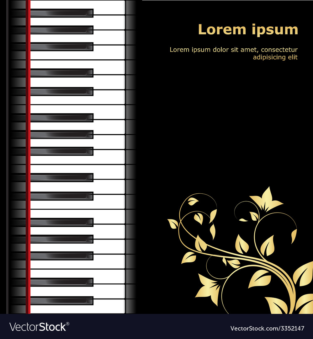 Piano template vector | Price: 1 Credit (USD $1)