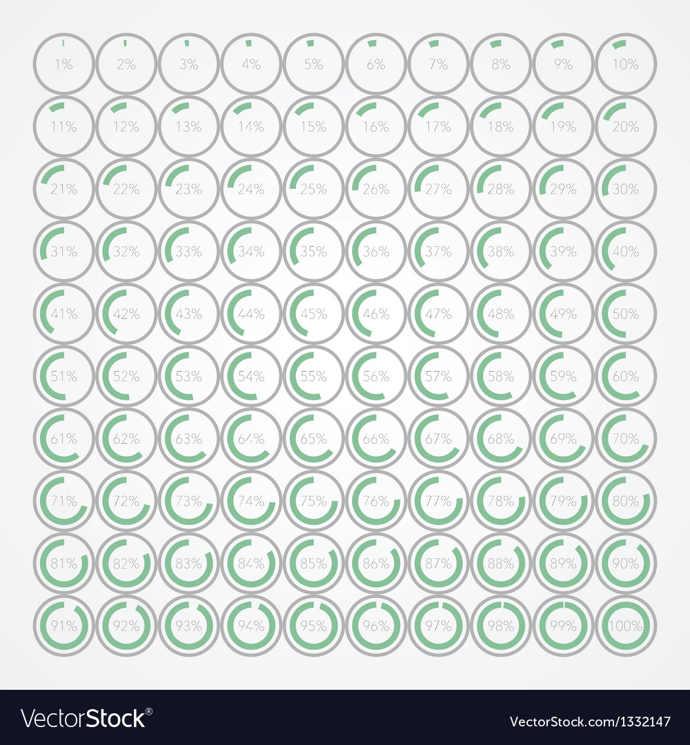 Set of infographic percentage bubbles vector | Price: 1 Credit (USD $1)