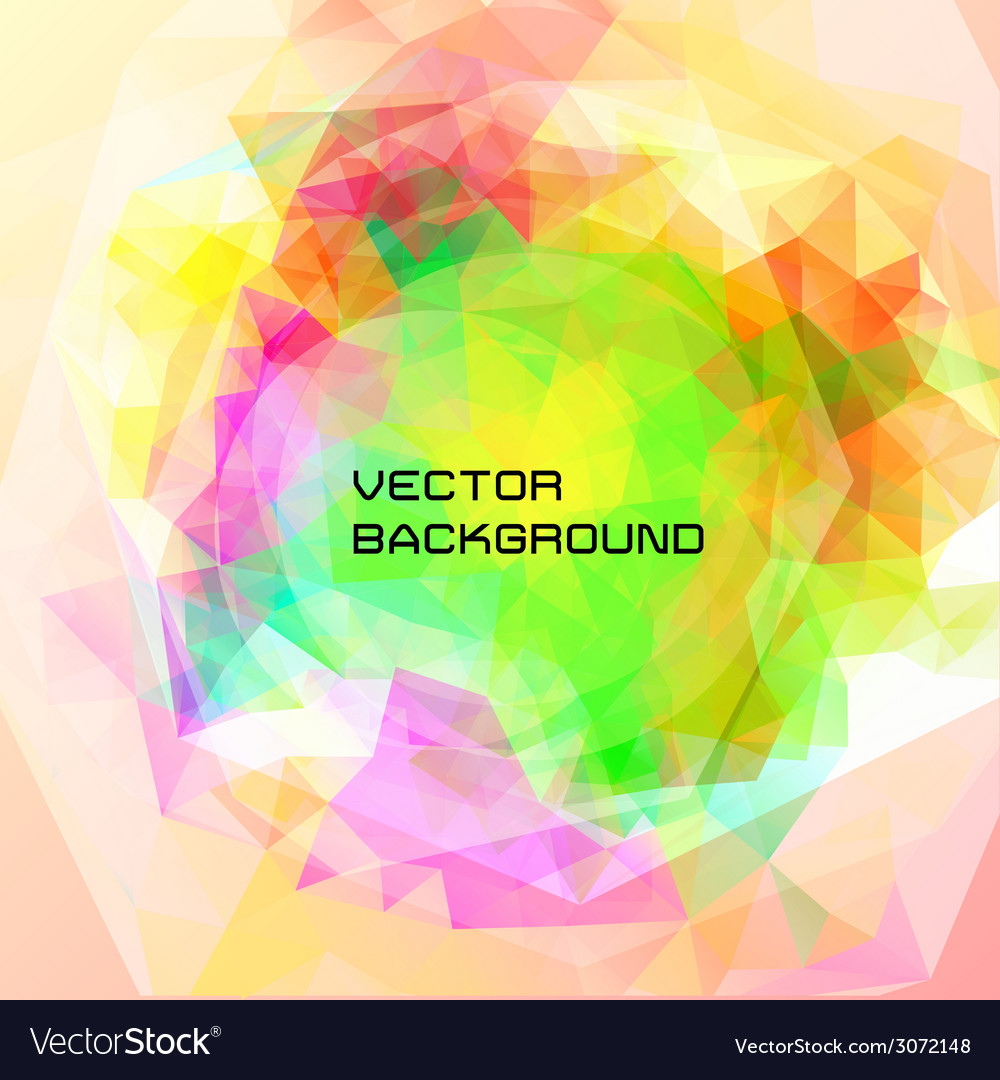 Abstract background of triangles vector | Price: 1 Credit (USD $1)