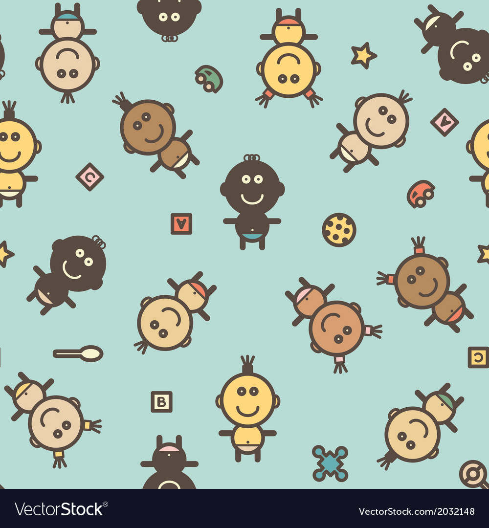 Baby pattern vector | Price: 1 Credit (USD $1)