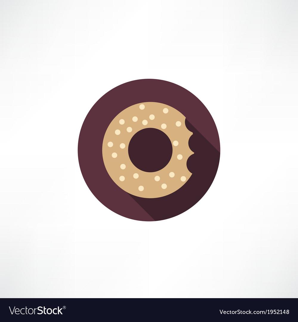 Bagel icon vector | Price: 1 Credit (USD $1)