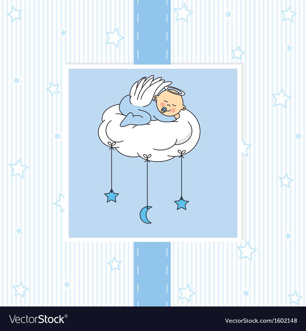 Birth card baby boy vector | Price: 1 Credit (USD $1)