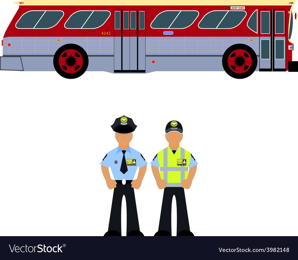 Bus and the bus driver vector | Price: 1 Credit (USD $1)