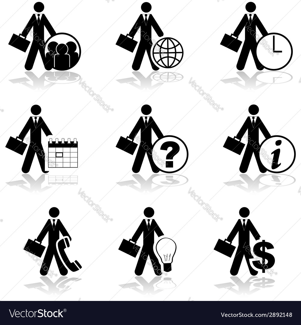 Businessman icons vector | Price: 1 Credit (USD $1)