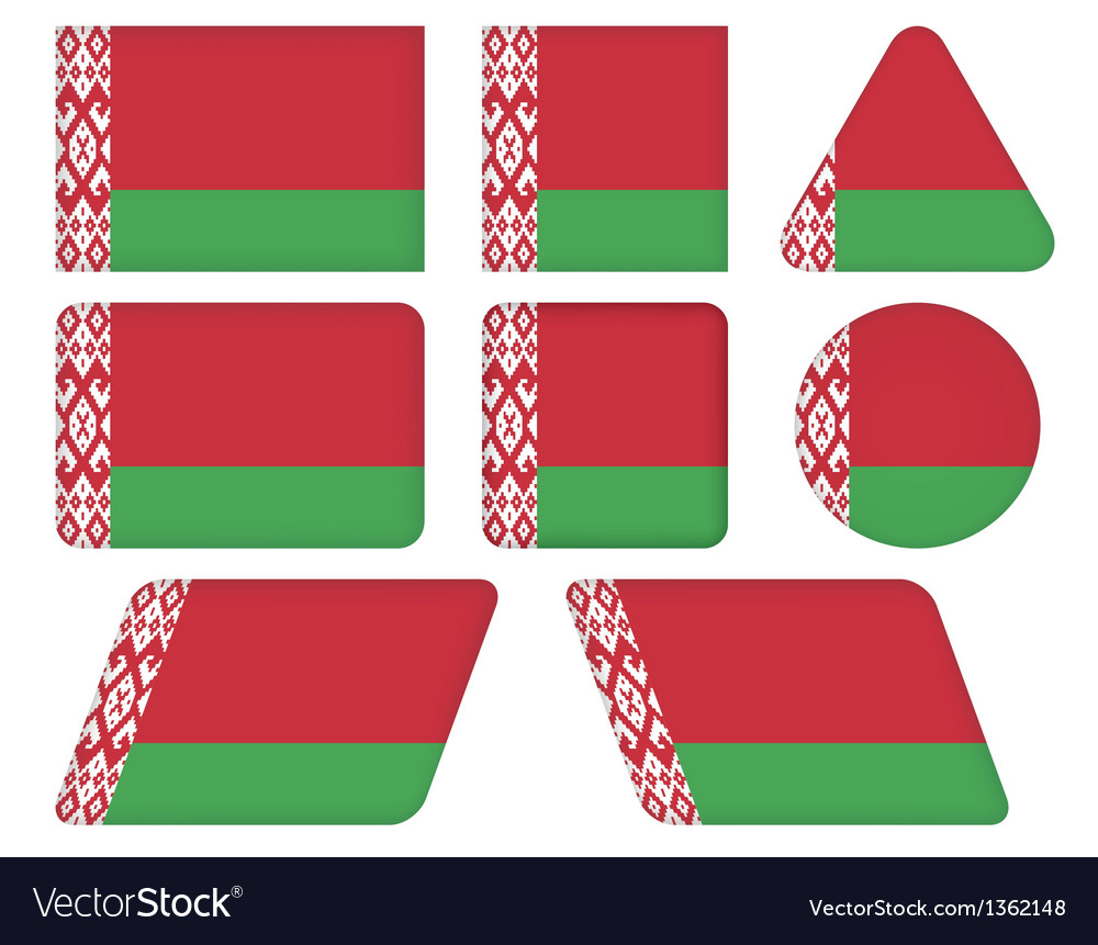 Buttons with flag of belarus vector | Price: 1 Credit (USD $1)