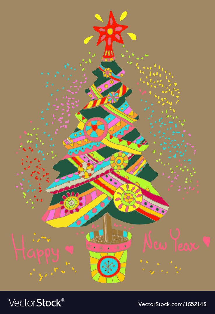 Christmas or new year background with colorfull vector   Price: 1 Credit (USD $1)