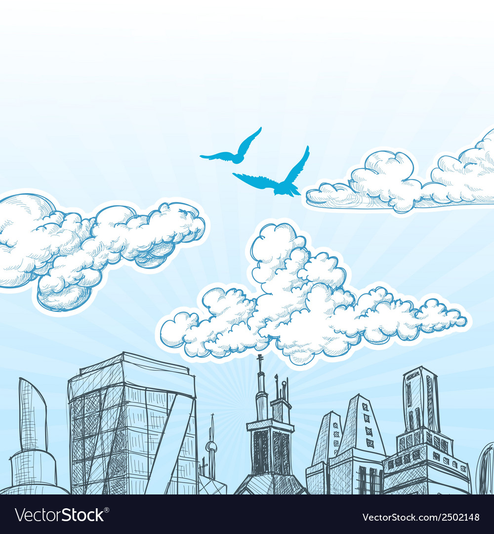 City sky vector | Price: 1 Credit (USD $1)