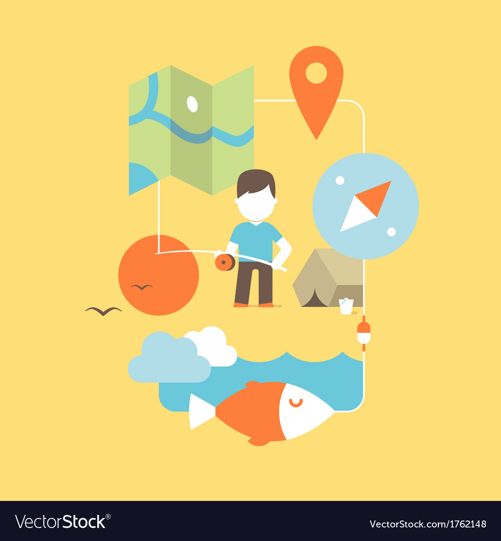 Conceptual of fishing vector | Price: 1 Credit (USD $1)