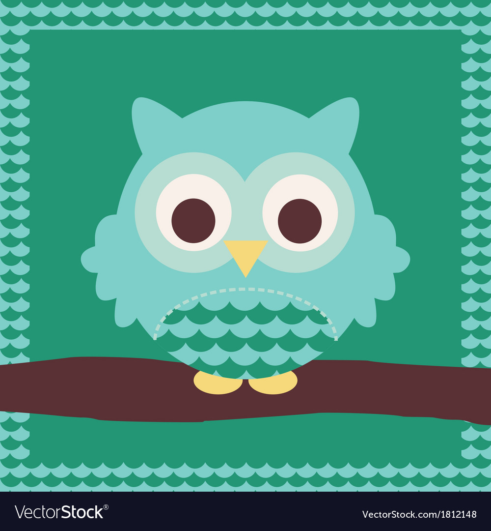 Cute owl vector | Price: 1 Credit (USD $1)