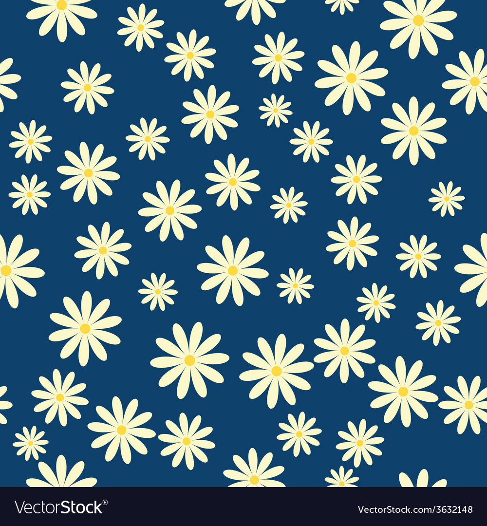 Daisies floral pattern vector | Price: 1 Credit (USD $1)