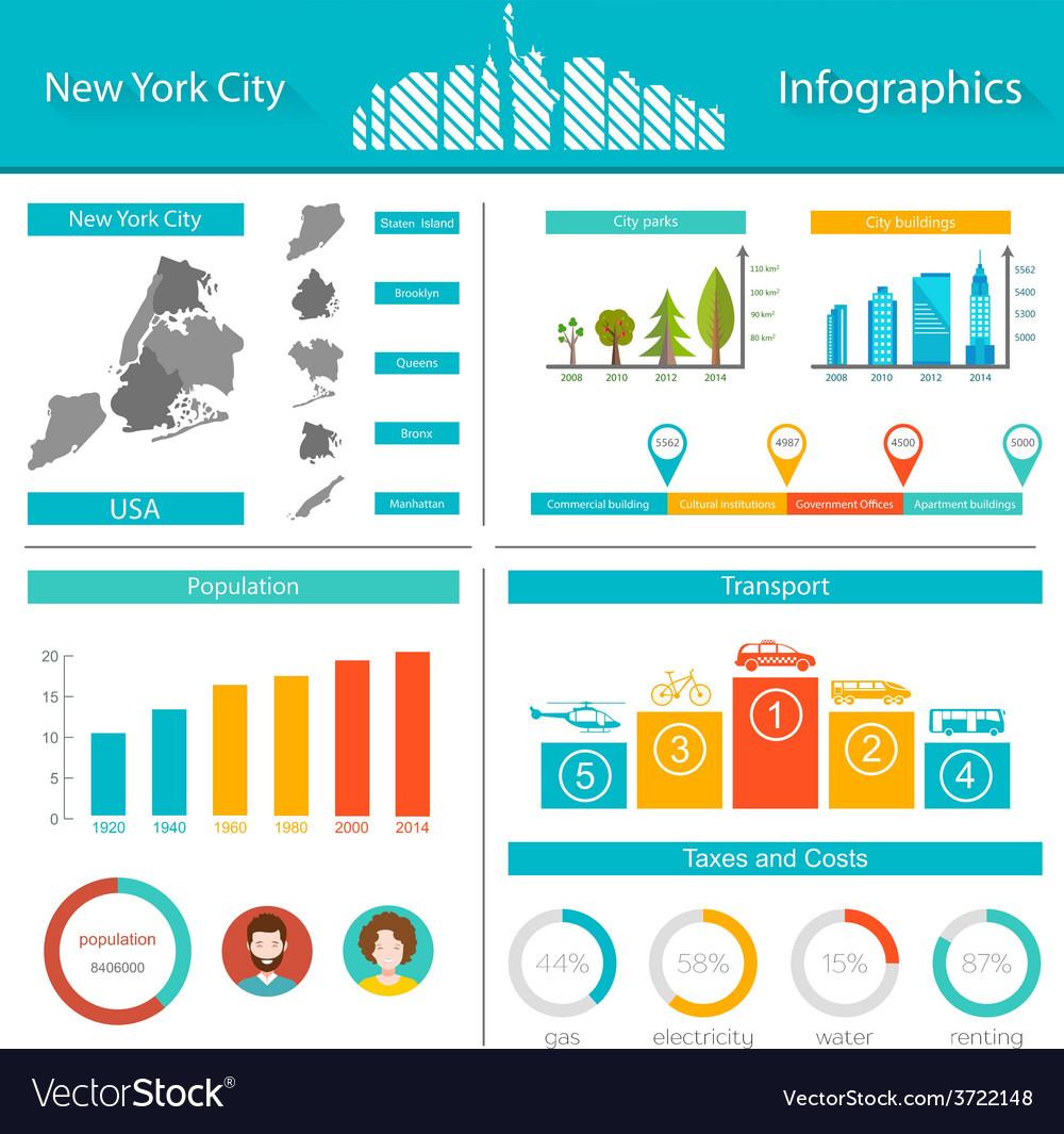 Infographics new york city vector | Price: 1 Credit (USD $1)