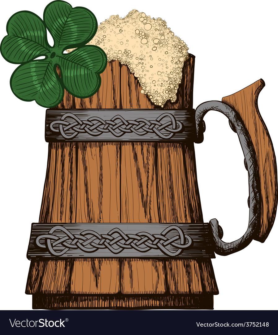 Irish beer mug color vector | Price: 1 Credit (USD $1)