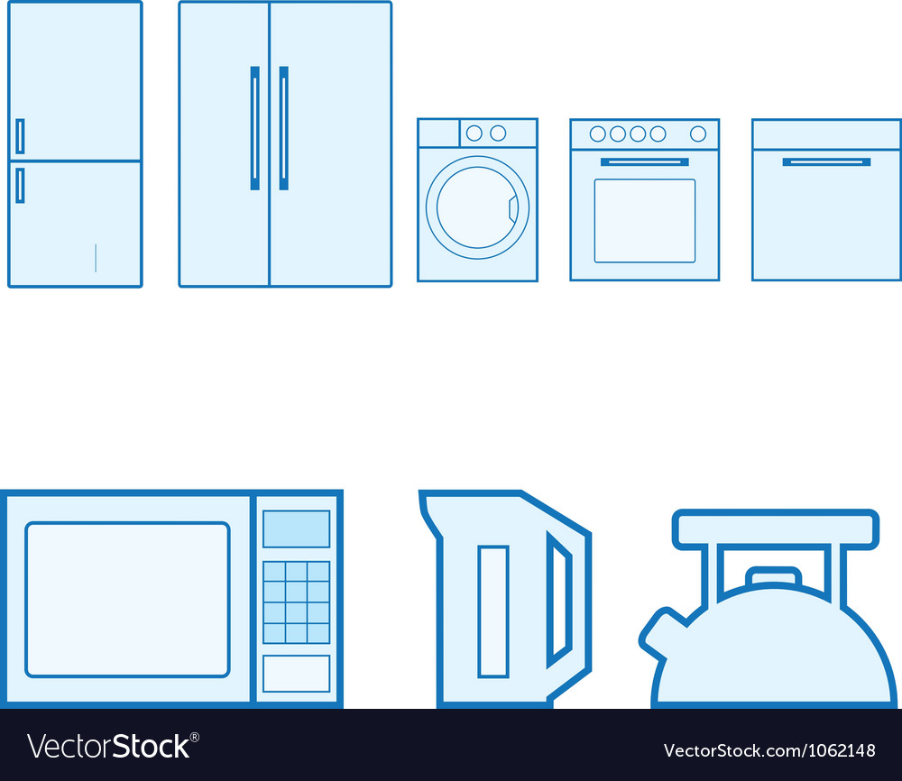 Kitchen icons set vector | Price: 1 Credit (USD $1)