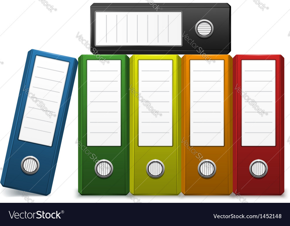 Office binder vector | Price: 1 Credit (USD $1)