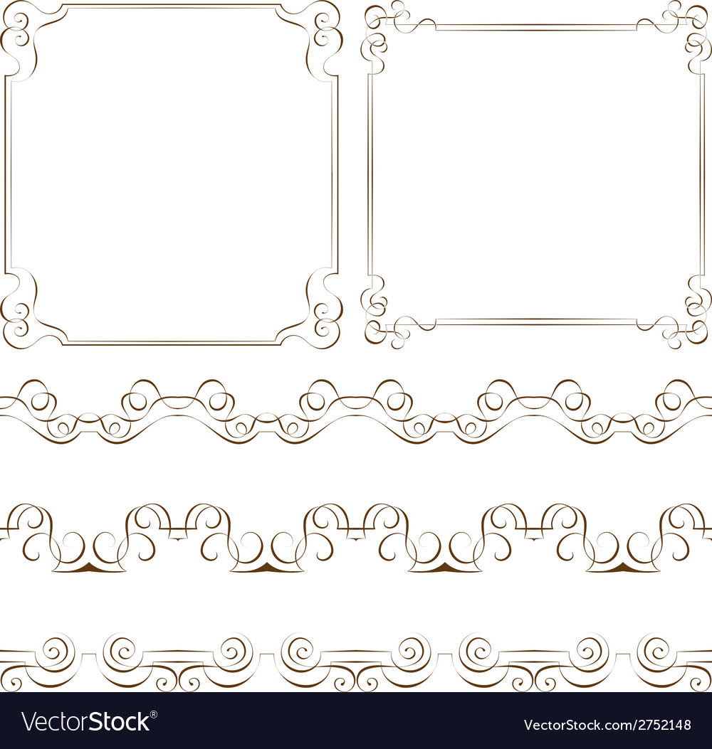 Set of elegant frames and borders vector | Price: 1 Credit (USD $1)