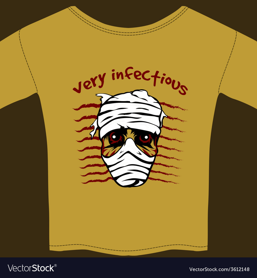 Very infectious t-shirt design template vector | Price: 1 Credit (USD $1)