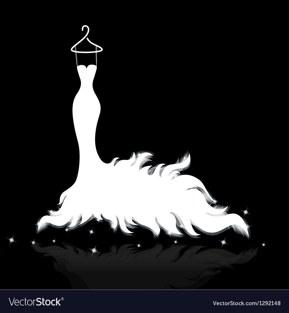 White wedding dress vector | Price: 1 Credit (USD $1)
