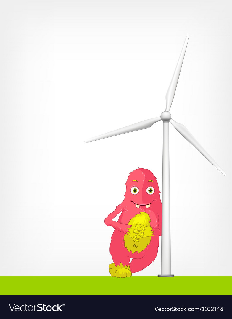 Windmill concept vector | Price: 3 Credit (USD $3)