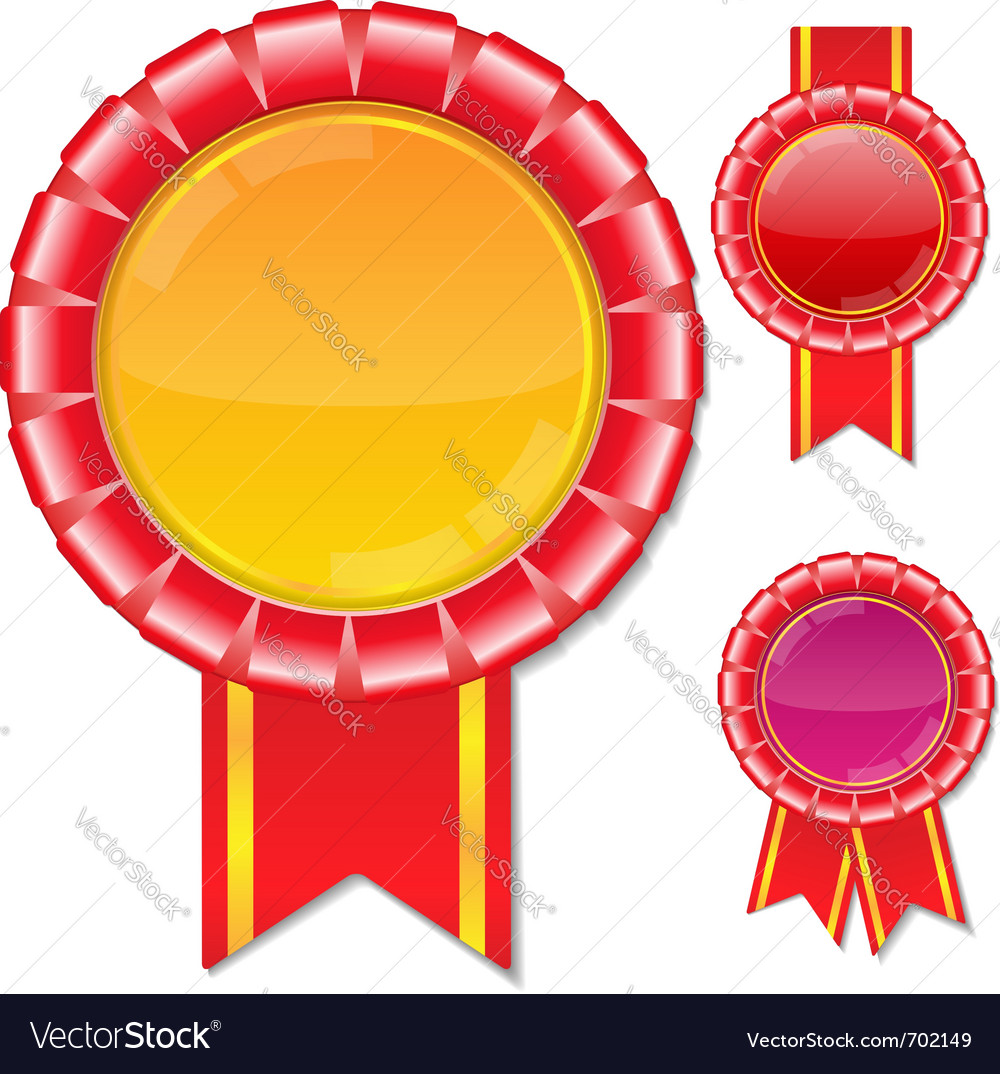 Award ribbons vector | Price: 1 Credit (USD $1)