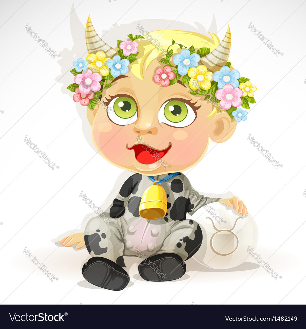 Baby zodiac - sign taurus vector | Price: 3 Credit (USD $3)