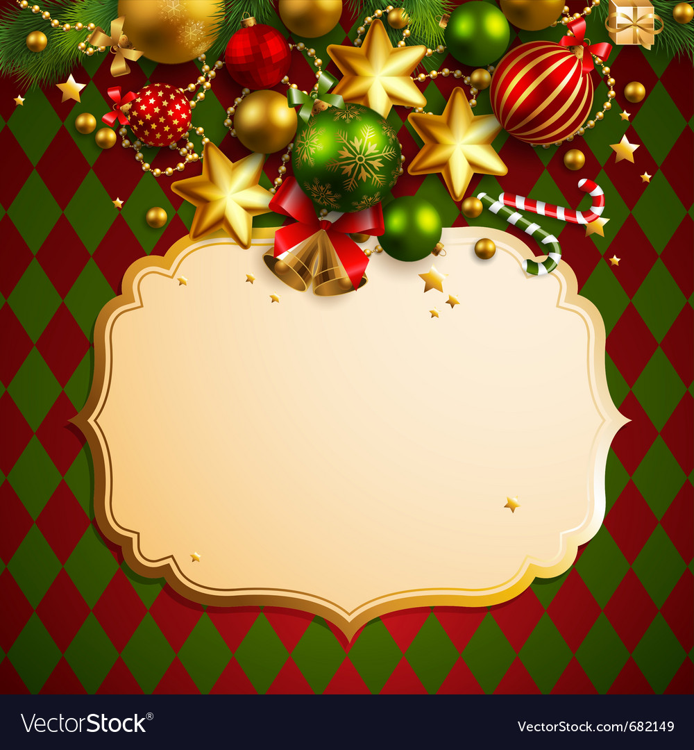 Beautiful christmas background vector | Price: 3 Credit (USD $3)