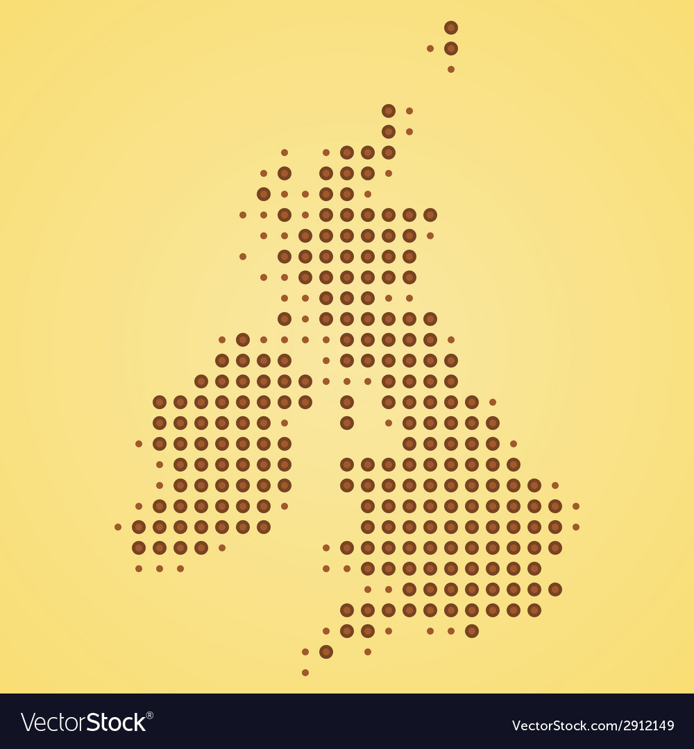 Britain map vector | Price: 1 Credit (USD $1)