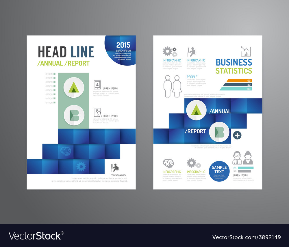 Brochure flyer magazine cover booklet poster vector | Price: 1 Credit (USD $1)
