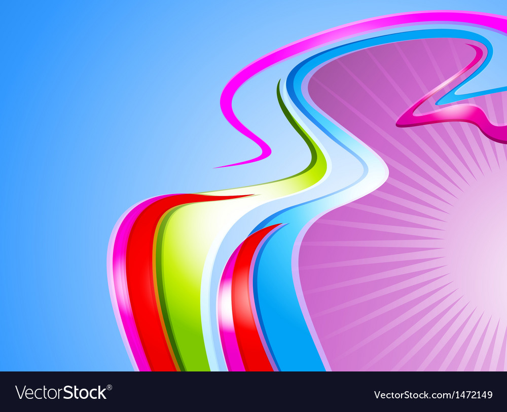 Colorful curve abstract background vector | Price: 1 Credit (USD $1)