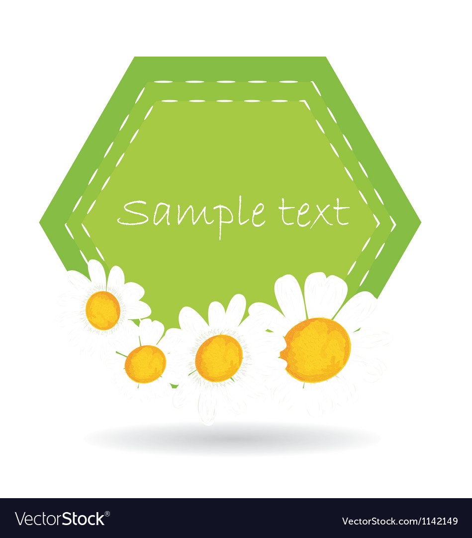 Daisy label vector | Price: 1 Credit (USD $1)