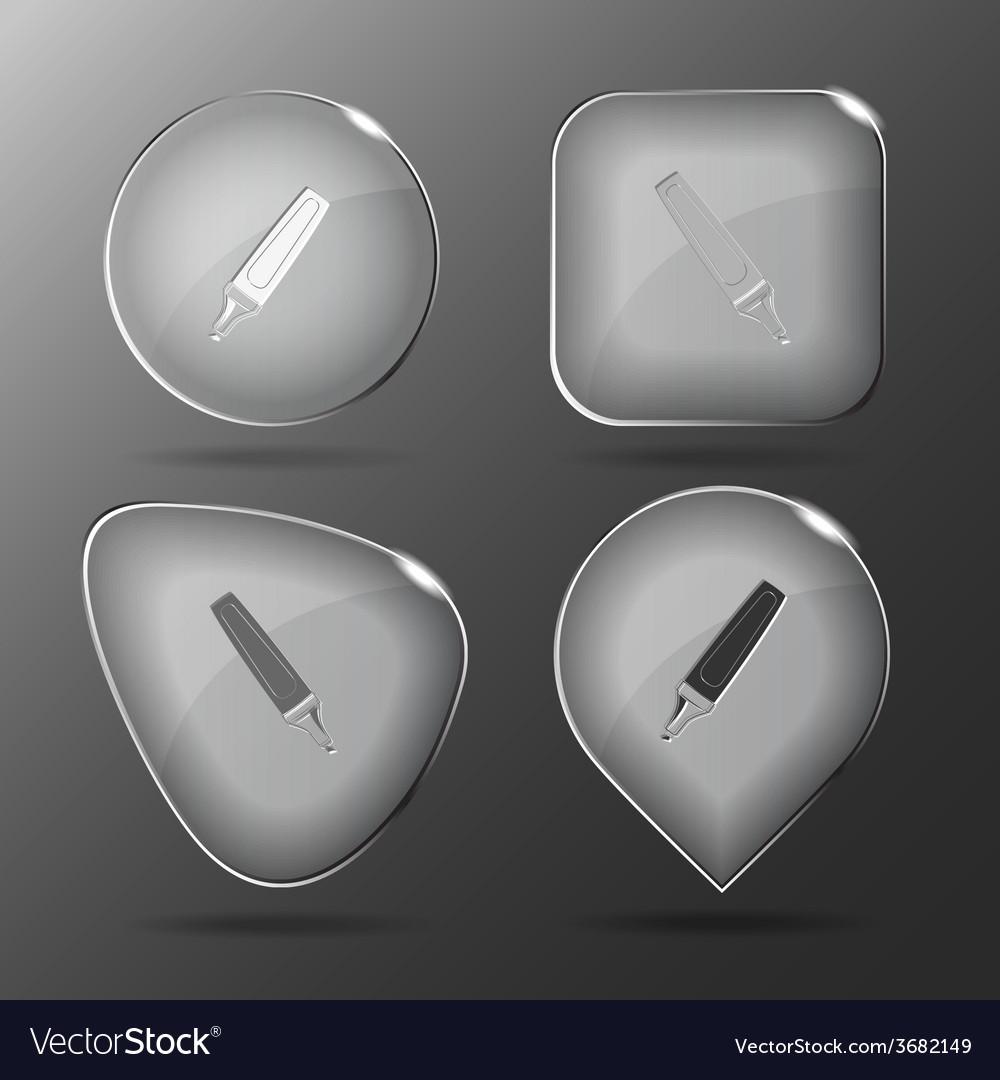 Felt pen glass buttons vector   Price: 1 Credit (USD $1)