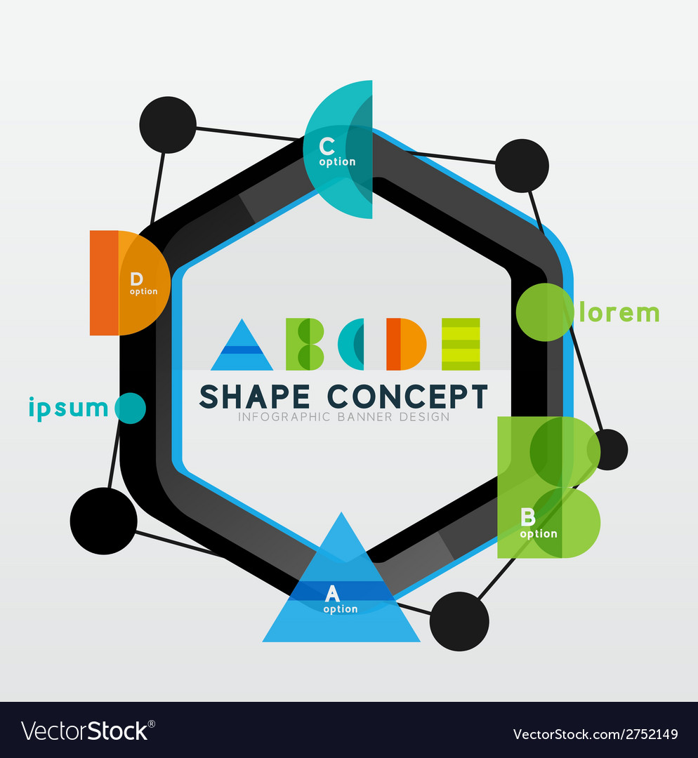 Geometric abstract diagram presentation design vector | Price: 1 Credit (USD $1)