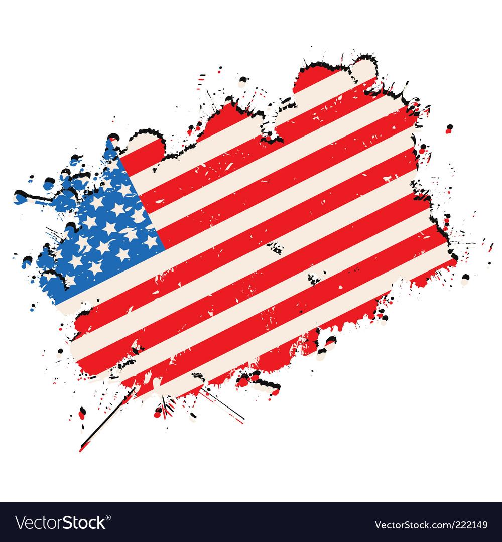 Grunge flag vector | Price: 1 Credit (USD $1)