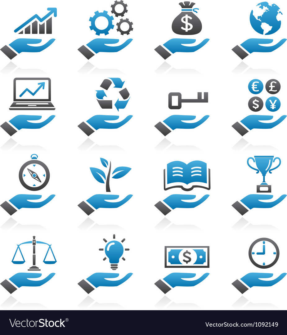 Hand concept icons vector | Price: 1 Credit (USD $1)