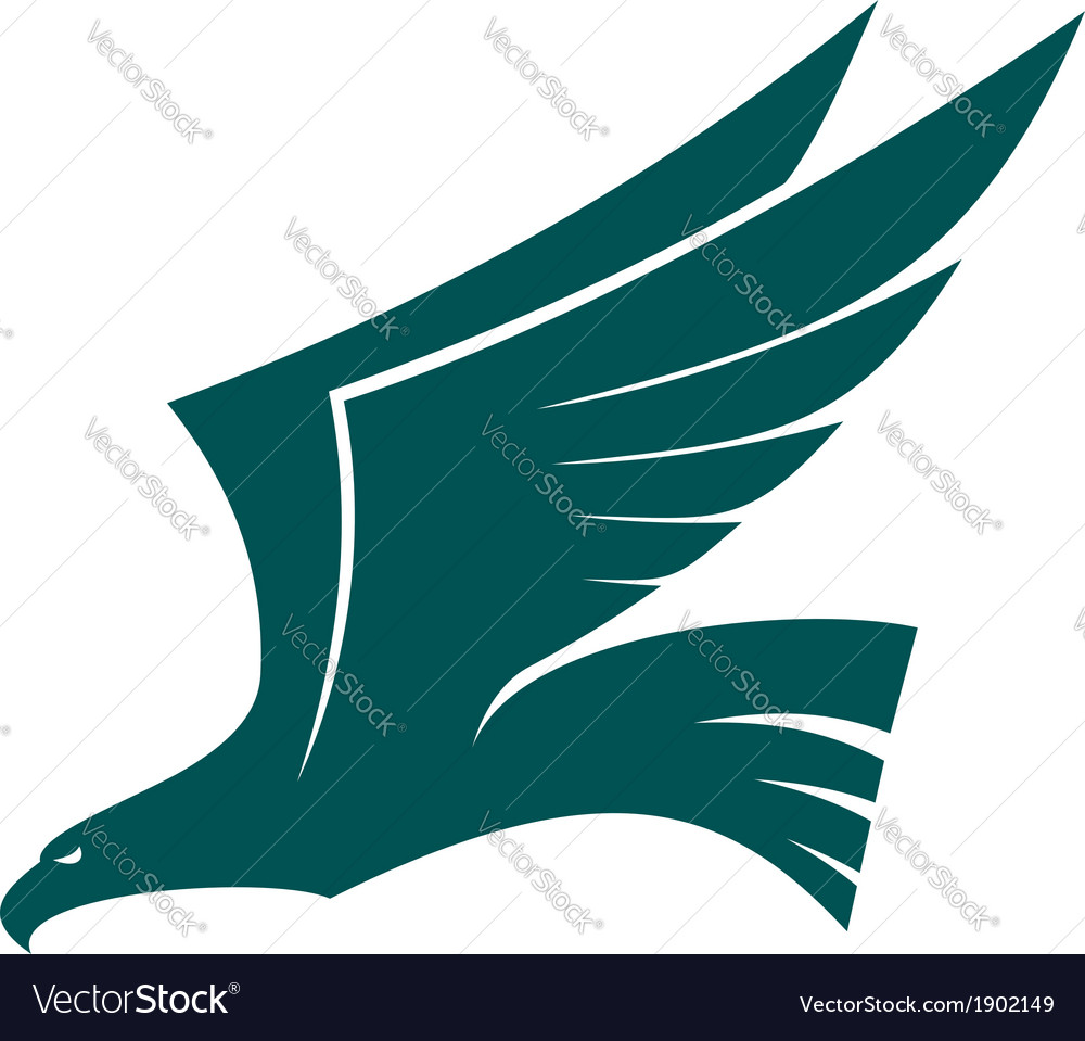 Majestic flying falcon bird vector | Price: 1 Credit (USD $1)
