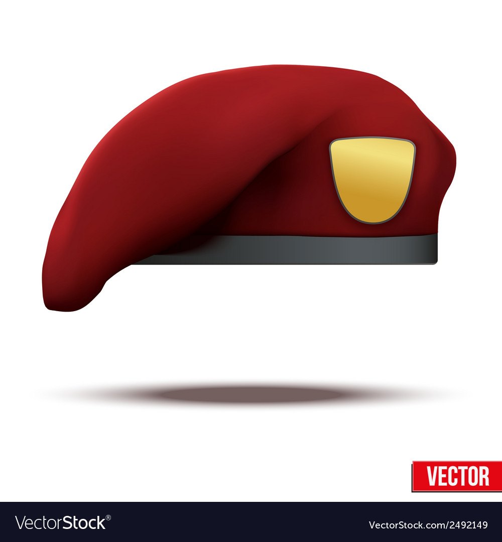 Maroon military red beret army special forces vector | Price: 1 Credit (USD $1)