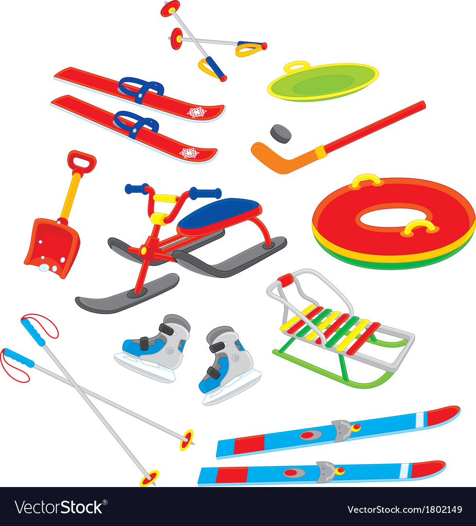 Objects for winter leisure vector | Price: 1 Credit (USD $1)
