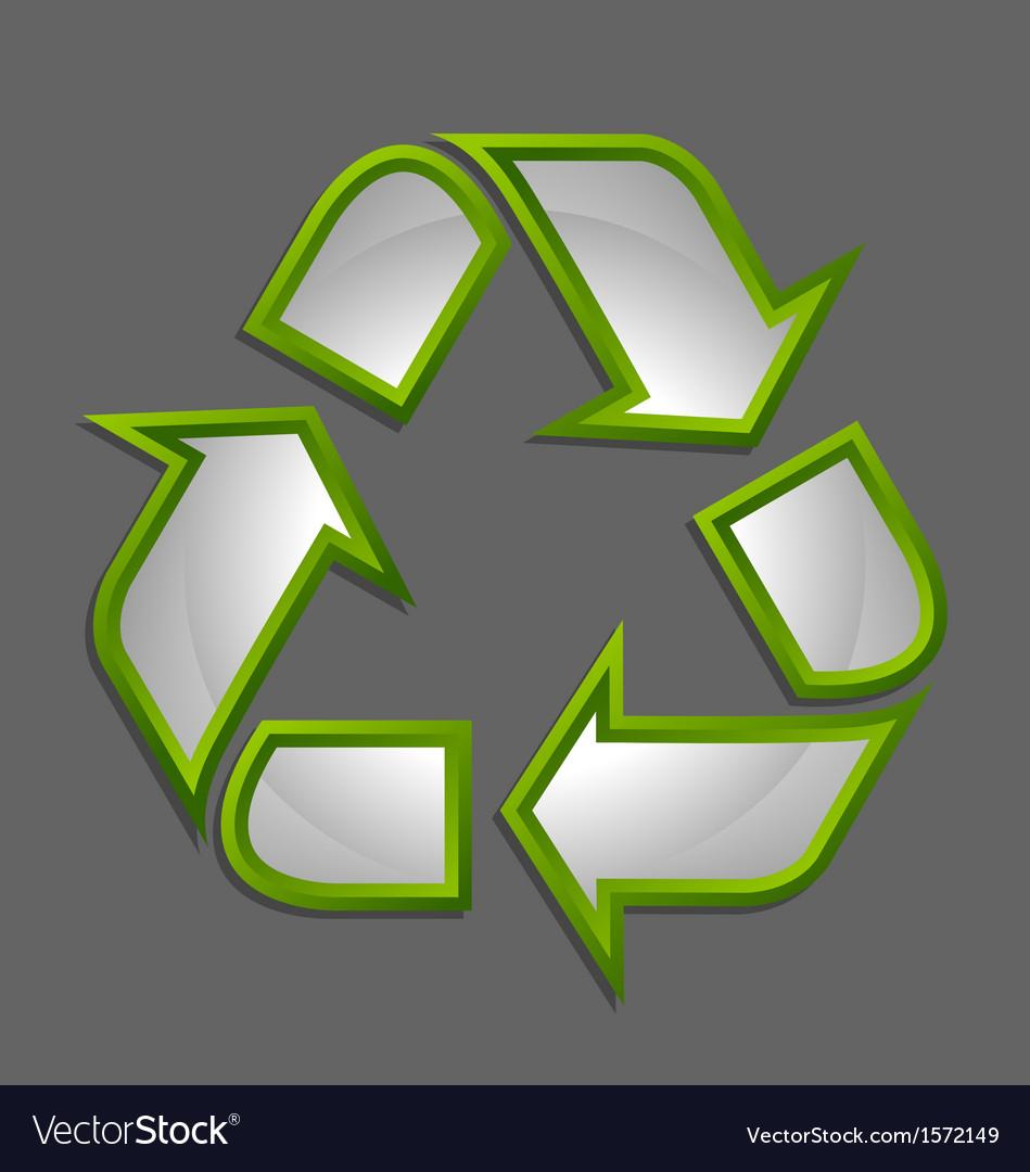 Recycle symbol icon vector | Price: 1 Credit (USD $1)