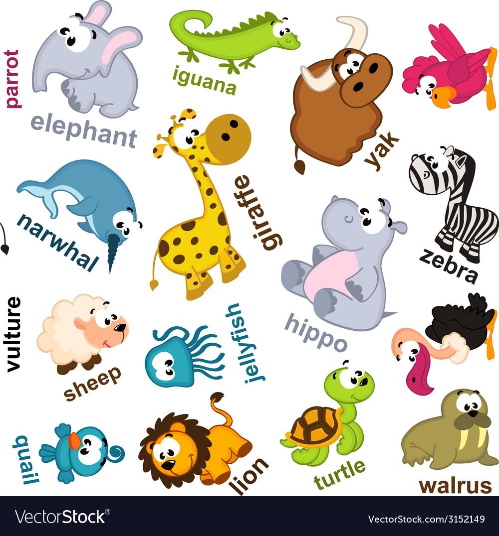 Seamless pattern animals vector