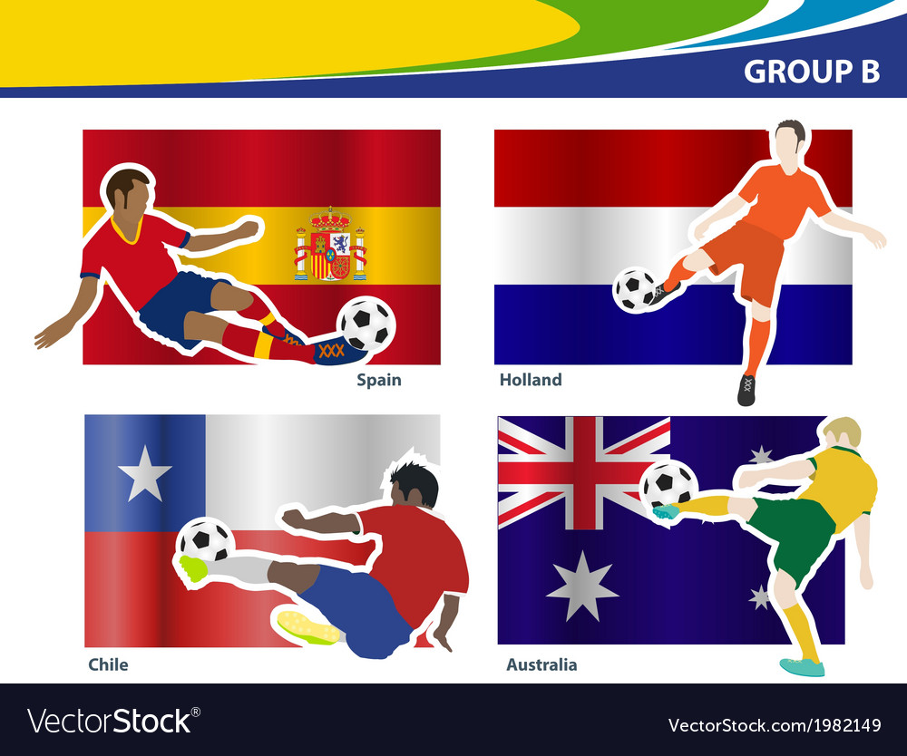 Soccer football players brazil 2014 group b vector | Price: 1 Credit (USD $1)