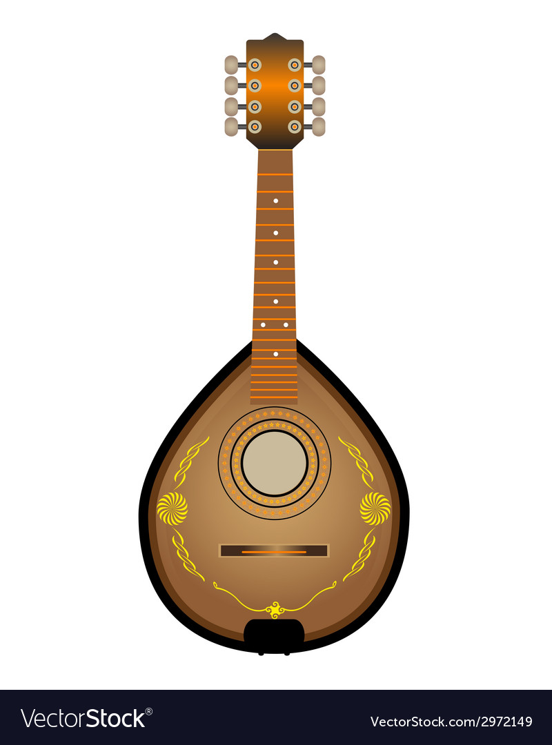 Stringed instrument mandalina vector | Price: 1 Credit (USD $1)