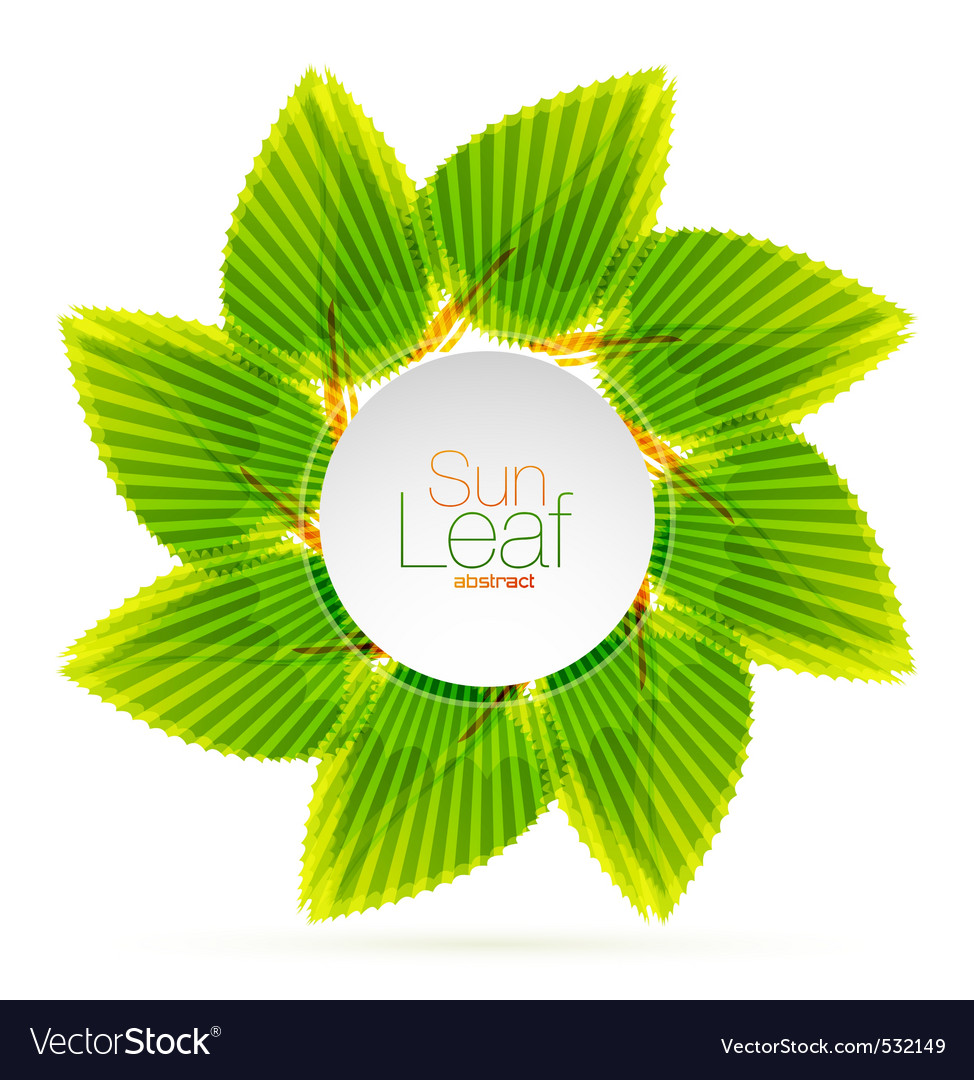 Sun leaf vector | Price: 1 Credit (USD $1)