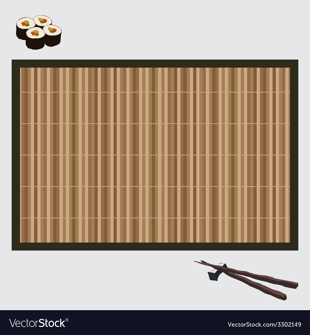 Sushi on bamboo mat vector | Price: 1 Credit (USD $1)