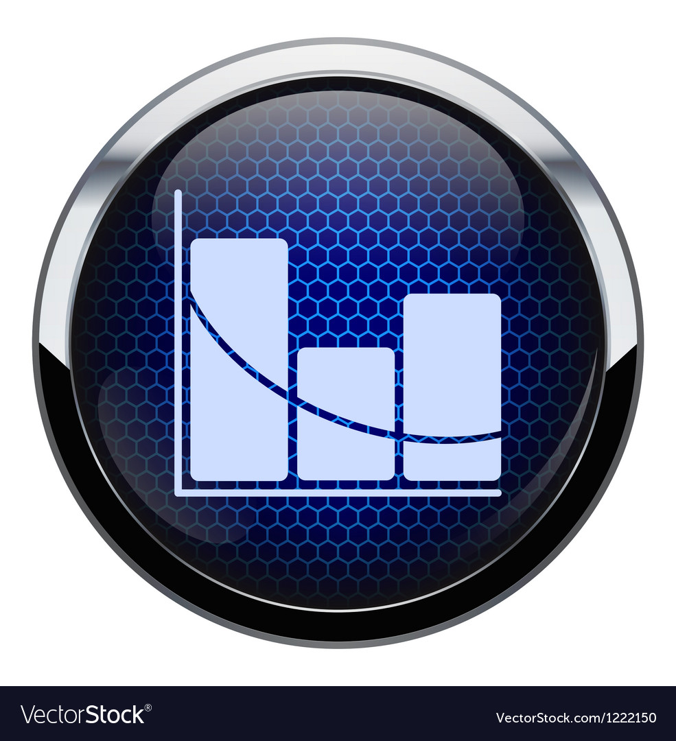 Blue honeycomb stat icon vector | Price: 1 Credit (USD $1)