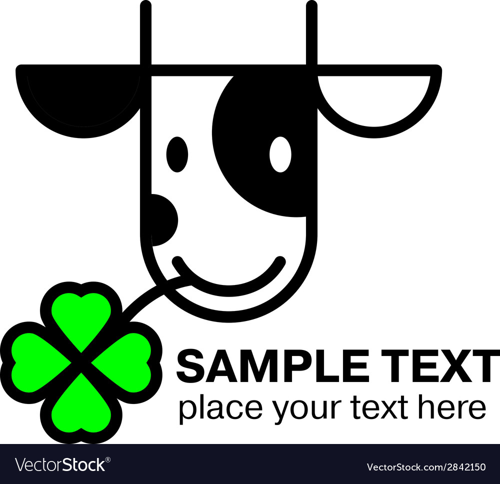 Cartoon cow head icon vector | Price: 1 Credit (USD $1)