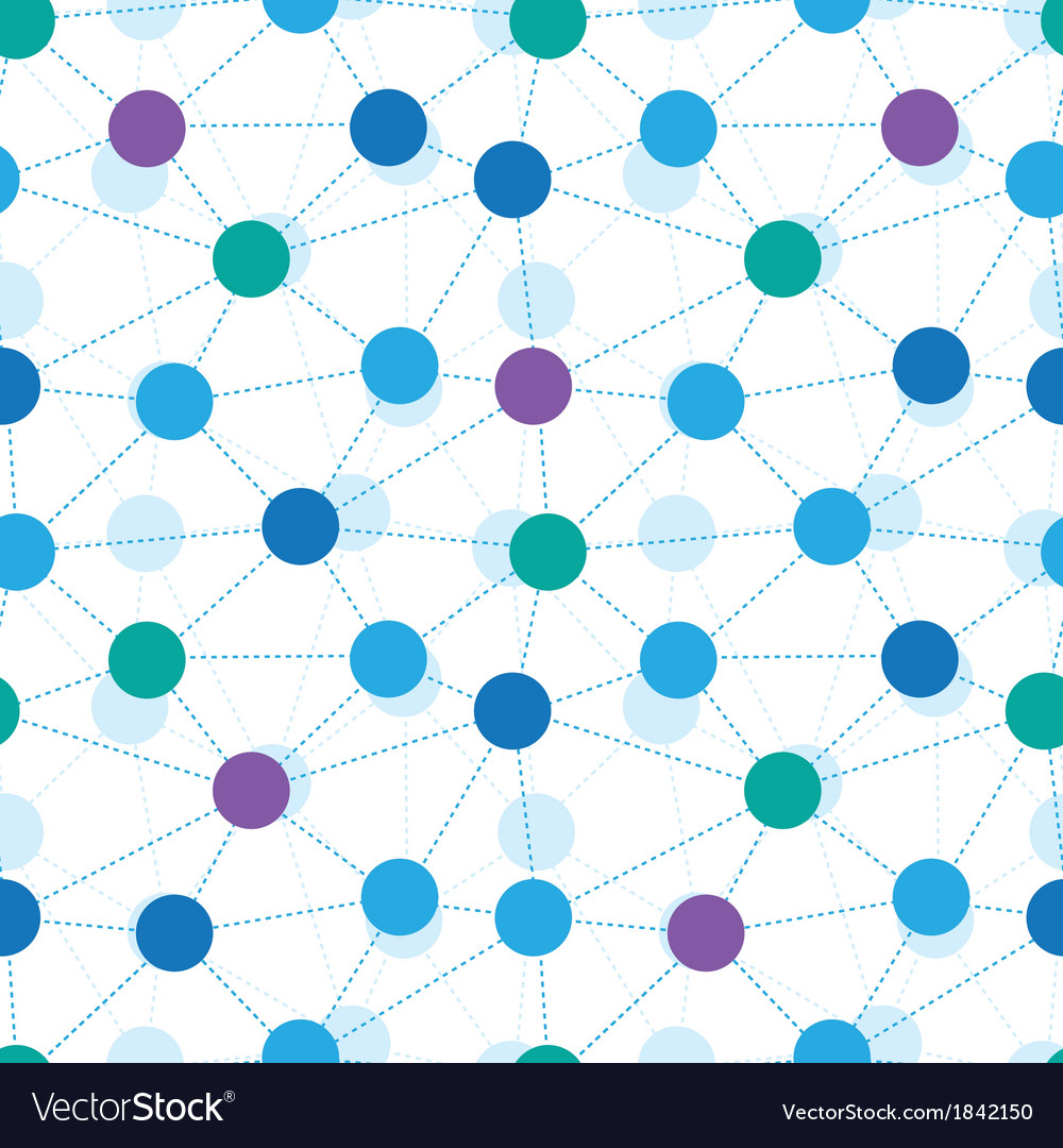 Connected dots seamless pattern background vector | Price: 1 Credit (USD $1)