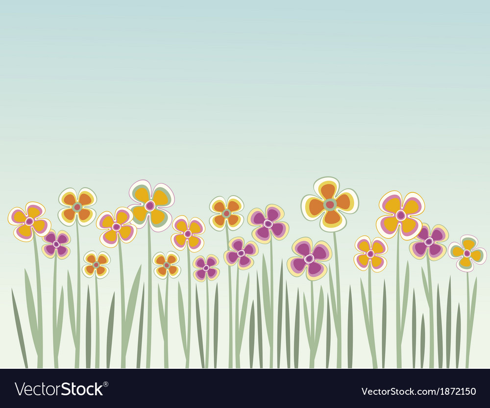 Floral summer background vector | Price: 1 Credit (USD $1)