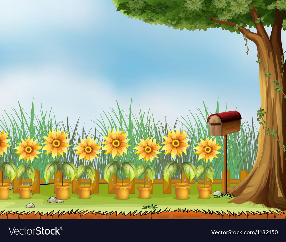 Garden mailbox vector | Price: 1 Credit (USD $1)