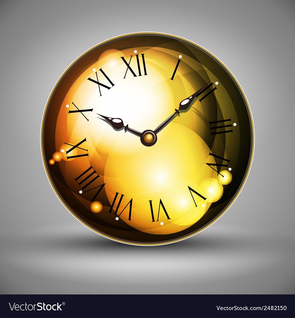 Golden clocks vector | Price: 1 Credit (USD $1)