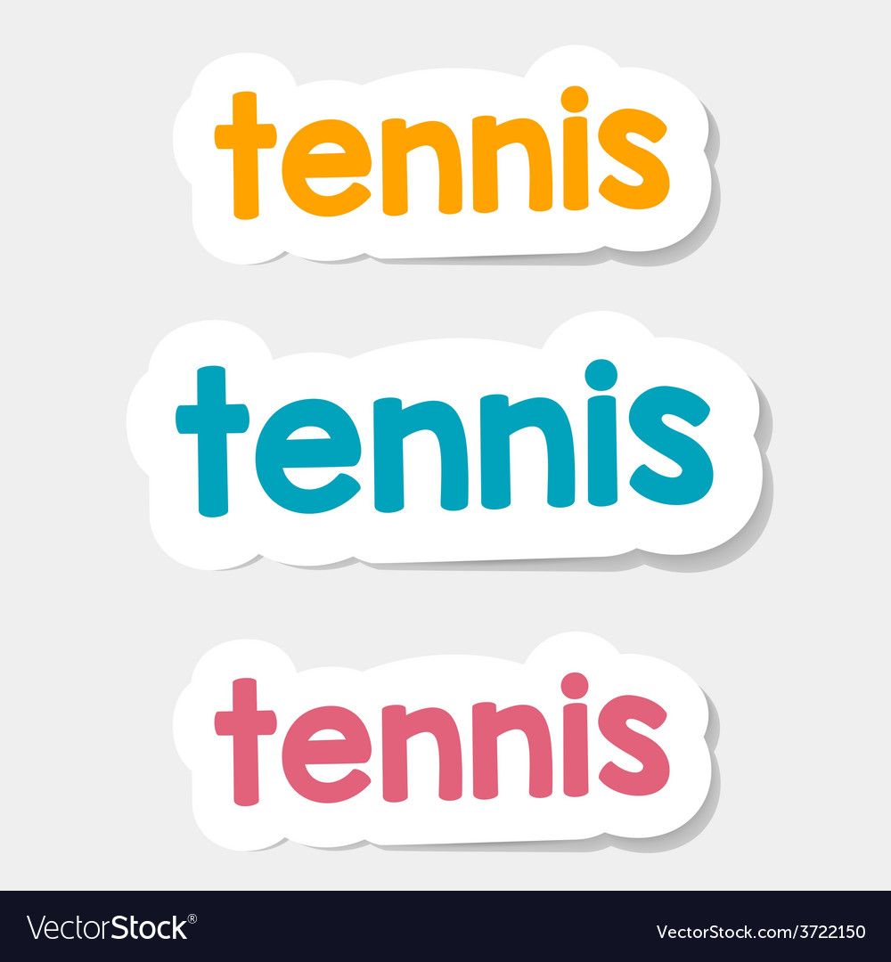 Logo tennis on a light background vector | Price: 1 Credit (USD $1)