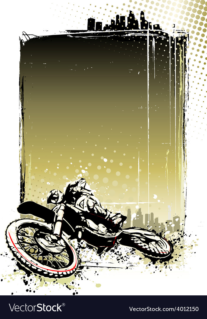 Motocross poster vector | Price: 3 Credit (USD $3)